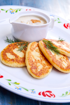 potato cutlets with sauce