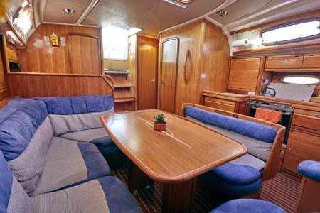 yacht sailboat interior Editorial