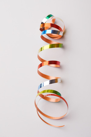 holiday ribbons on white