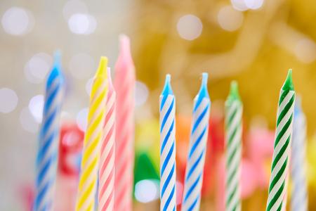 Birthday candles Foto de archivo