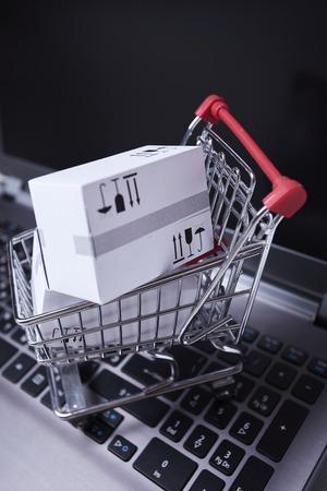 Delivery packaging boxes Reklamní fotografie
