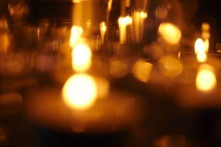 Candle lights on the dark Stock fotó