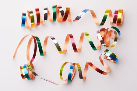 holiday ribbons on the white background