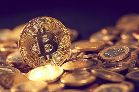 golden bitcoin, conceptual image for crypto currency Reklamní fotografie