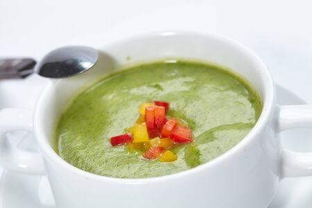 グリーンクリームスープ