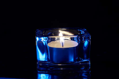 candle lights on the dark background