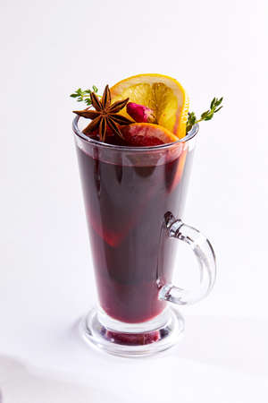 winter drink with fruits and spices Stock fotó