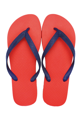 flip flop sandals beach shoes isolated white