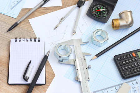drawing tools project concept Stock Photo