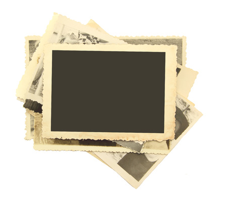 Vintage photos paper old book retro style Stock Photo