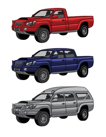 pickup truck: cars
