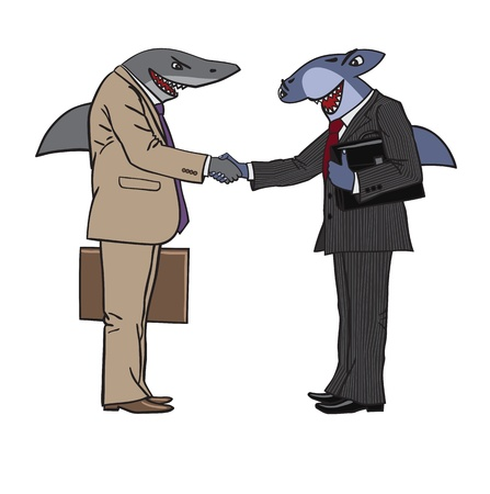 handclasp: sharks