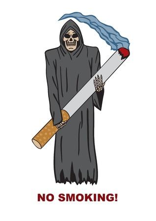 cigarette smoke: death Illustration
