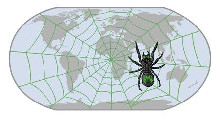 spider WWW Stock Vector - 15854605