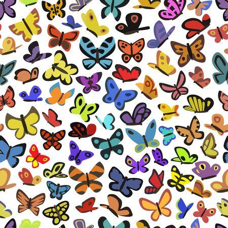 background of butterflies Stock Vector - 19478762
