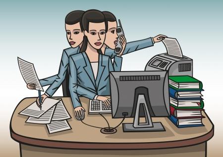copywriter: girl workaholic