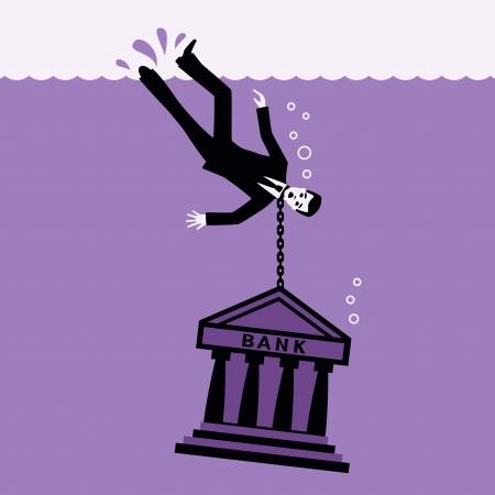 drowned: Debtor  Illustration