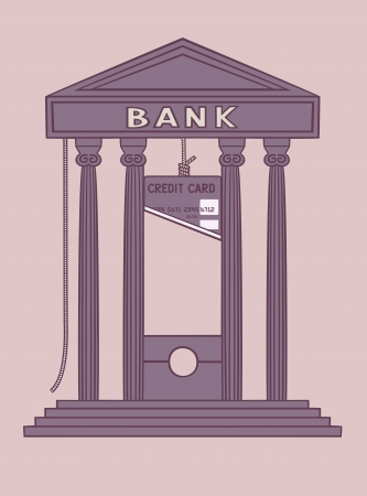 Bank guillotine  Stock Vector - 21760451