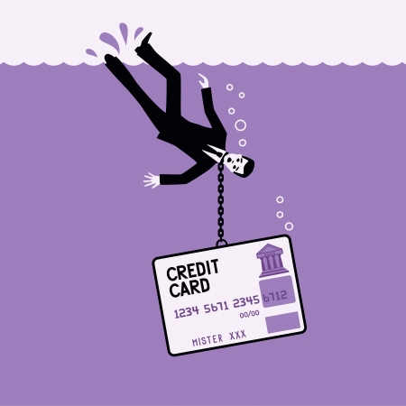 credit card debt: Credit card  Illustration