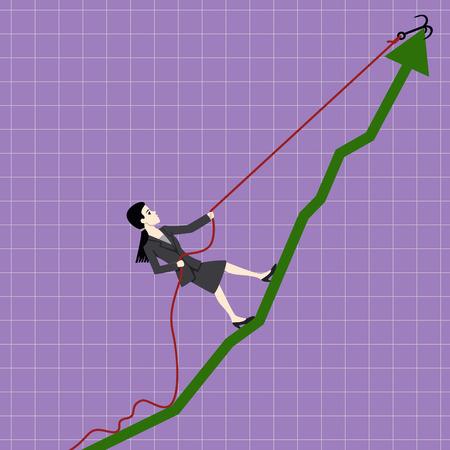 Lifting businesswoman