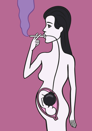 Pregnant woman smoker