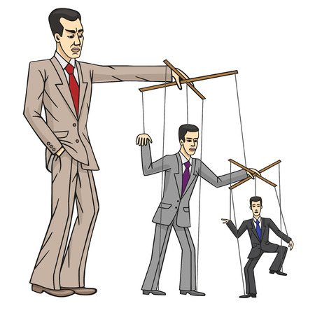 travesty: Business puppets  Illustration