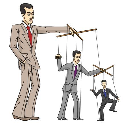 esclavage: marionnettes d'affaires Illustration