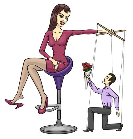 esclavo: La manipulación de las mujeres s