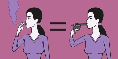 foolishness: Smoker woman suicide