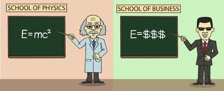School of Business  Vector