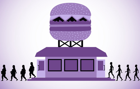 adiposity: Fast food outlet