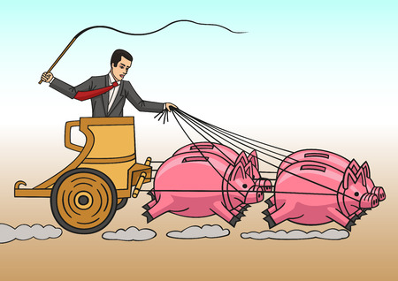 investor: Investor ride on piggy banks