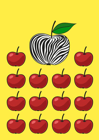 prodigious: Unusual apple. Illustration