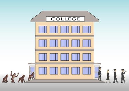 College. Vector