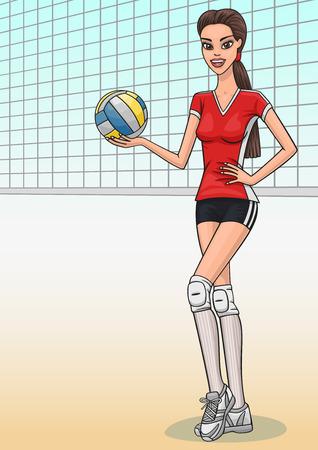 Volleyball girl. Illustration