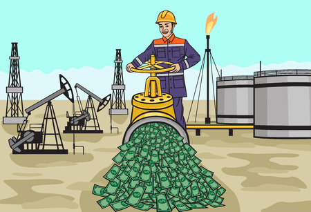 naphtha: Oilman. Illustration