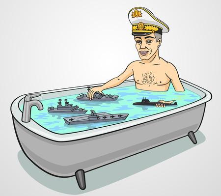 personas banandose: Almirante. Vectores