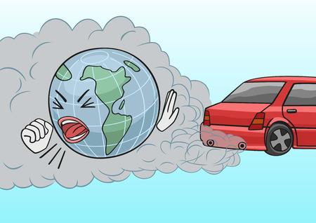 contaminacion aire: De escape del coche.