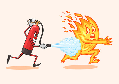 annihilate: Fire extinguisher.