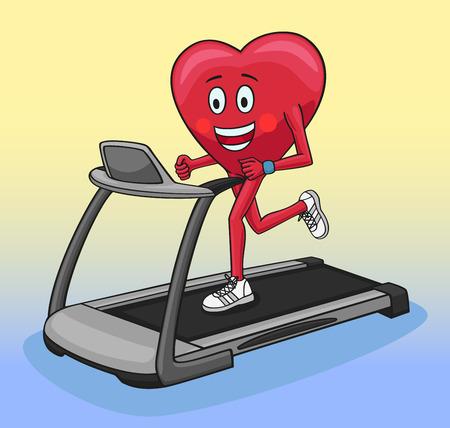 treadmill: Treadmill. Illustration
