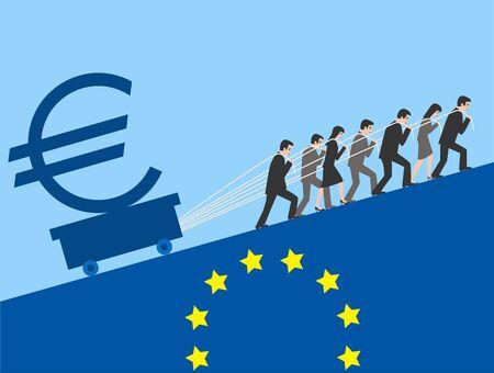 slump: Euro.