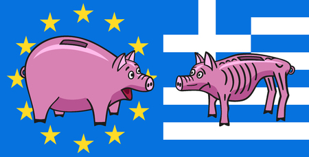 miserable: European piggy bank.