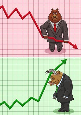 곰은 주가와 황소의 증가를 낮 춥니 다.