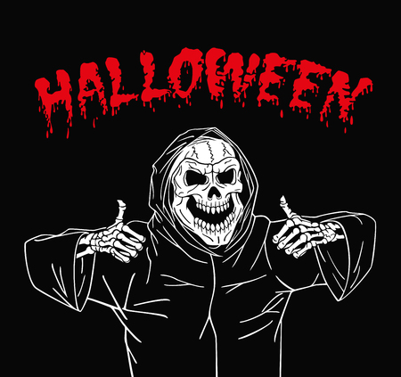 chuckle: Dead invites everyone to have fun on Halloween. Illustration