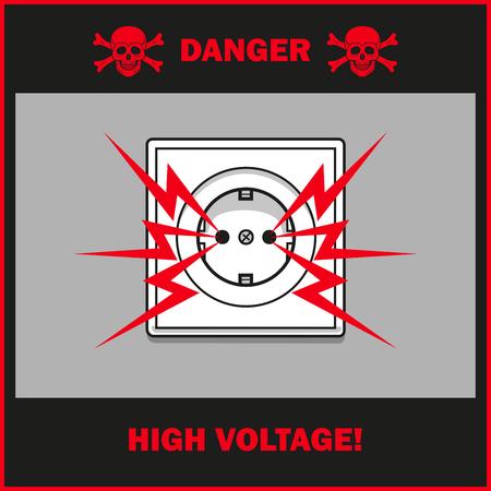 High voltage sign.