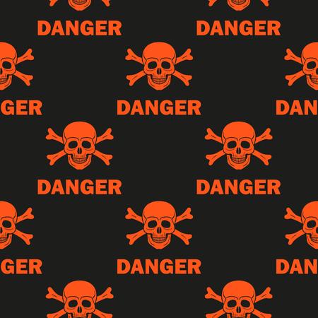 forbid: Black background warns of mortal danger. Illustration