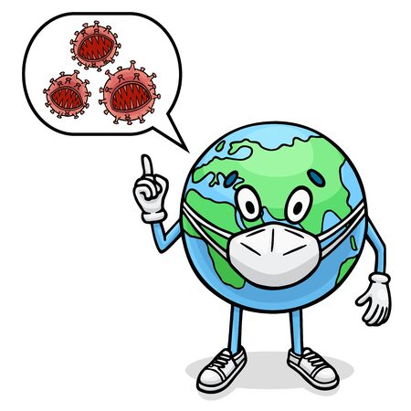 A viral infection has taken over the entire planet. Illustration