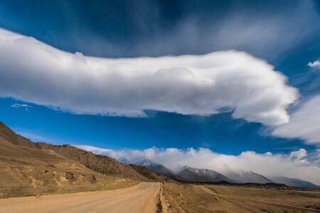 Forest road in the Barguzin valley. Buryatia.