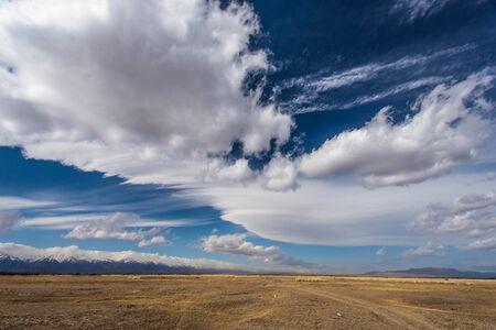 Landscape of the valley and mountains in Siberia. Buryatia, Barguzin. 版權商用圖片