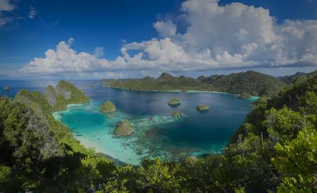 Archipelago Vayag, Halmahera Sea, reserve Raja Ampat in Papua New Guinea
